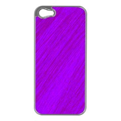 Purple pattern Apple iPhone 5 Case (Silver)