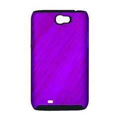 Purple pattern Samsung Galaxy Note 2 Hardshell Case (PC+Silicone)