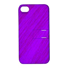 Purple pattern Apple iPhone 4/4S Hardshell Case with Stand