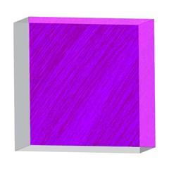 Purple pattern 5  x 5  Acrylic Photo Blocks