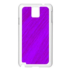 Purple pattern Samsung Galaxy Note 3 N9005 Case (White)