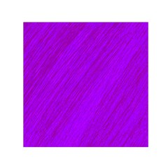 Purple pattern Small Satin Scarf (Square)