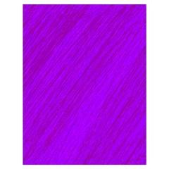 Purple pattern Drawstring Bag (Large)
