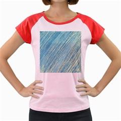 Light blue pattern Women s Cap Sleeve T-Shirt