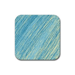Light blue pattern Rubber Square Coaster (4 pack)