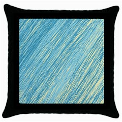 Light blue pattern Throw Pillow Case (Black)