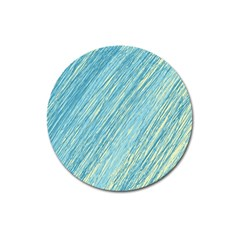 Light blue pattern Magnet 3  (Round)