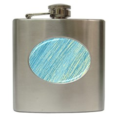 Light blue pattern Hip Flask (6 oz)