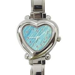 Light blue pattern Heart Italian Charm Watch