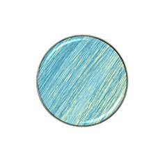 Light blue pattern Hat Clip Ball Marker (10 pack)