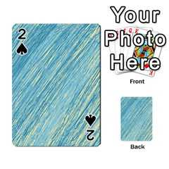Light blue pattern Playing Cards 54 Designs