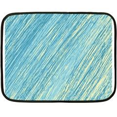 Light blue pattern Double Sided Fleece Blanket (Mini)