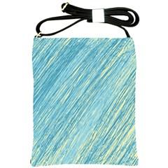 Light blue pattern Shoulder Sling Bags