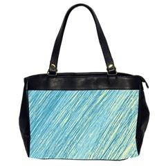 Light blue pattern Office Handbags (2 Sides)