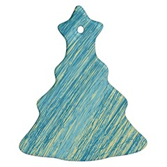 Light blue pattern Christmas Tree Ornament (2 Sides)