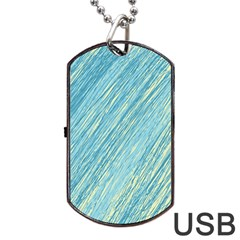 Light blue pattern Dog Tag USB Flash (Two Sides)