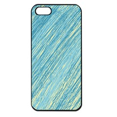 Light blue pattern Apple iPhone 5 Seamless Case (Black)
