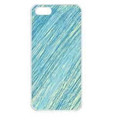 Light blue pattern Apple iPhone 5 Seamless Case (White)