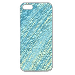 Light blue pattern Apple Seamless iPhone 5 Case (Clear)