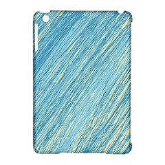 Light blue pattern Apple iPad Mini Hardshell Case (Compatible with Smart Cover)
