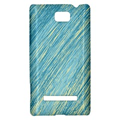 Light blue pattern HTC 8S Hardshell Case