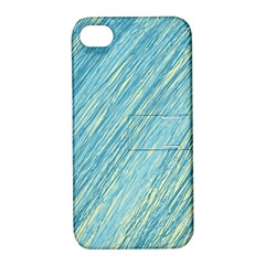 Light blue pattern Apple iPhone 4/4S Hardshell Case with Stand