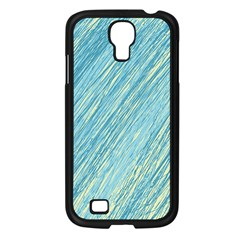 Light blue pattern Samsung Galaxy S4 I9500/ I9505 Case (Black)