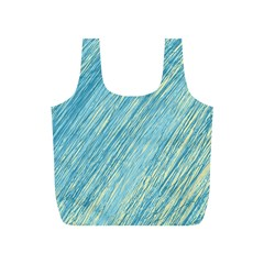 Light blue pattern Full Print Recycle Bags (S)
