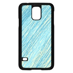 Light blue pattern Samsung Galaxy S5 Case (Black)