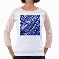Blue elegant pattern Girly Raglans