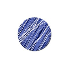 Blue elegant pattern Golf Ball Marker (4 pack)