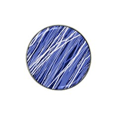 Blue elegant pattern Hat Clip Ball Marker (10 pack)