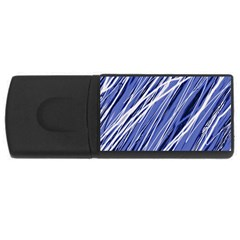 Blue elegant pattern USB Flash Drive Rectangular (4 GB)