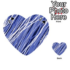 Blue elegant pattern Playing Cards 54 (Heart)