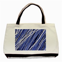 Blue elegant pattern Basic Tote Bag (Two Sides)