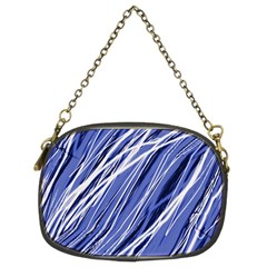 Blue elegant pattern Chain Purses (Two Sides)