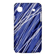 Blue elegant pattern Samsung Galaxy SL i9003 Hardshell Case
