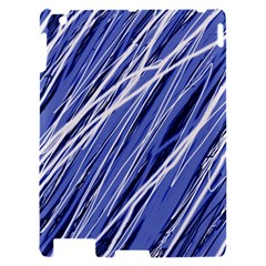 Blue elegant pattern Apple iPad 2 Hardshell Case