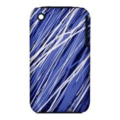 Blue elegant pattern Apple iPhone 3G/3GS Hardshell Case (PC+Silicone)