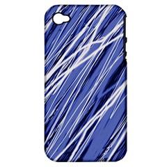 Blue elegant pattern Apple iPhone 4/4S Hardshell Case (PC+Silicone)