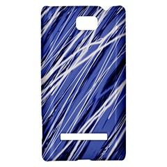 Blue elegant pattern HTC 8S Hardshell Case
