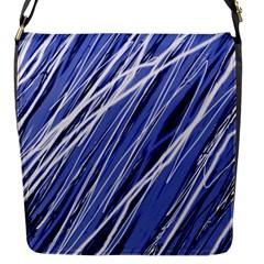 Blue elegant pattern Flap Messenger Bag (S)