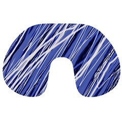 Blue elegant pattern Travel Neck Pillows