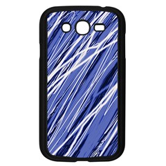 Blue elegant pattern Samsung Galaxy Grand DUOS I9082 Case (Black)