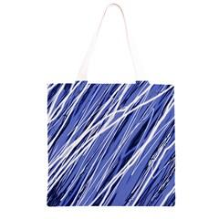 Blue elegant pattern Grocery Light Tote Bag
