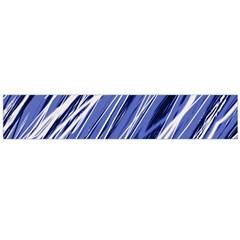 Blue elegant pattern Flano Scarf (Large)