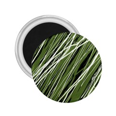 Green decorative pattern 2.25  Magnets