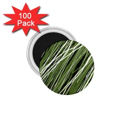 Green decorative pattern 1.75  Magnets (100 pack)