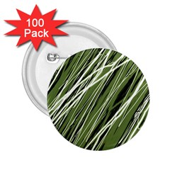 Green decorative pattern 2.25  Buttons (100 pack)