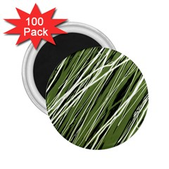 Green decorative pattern 2.25  Magnets (100 pack)